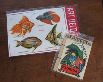2 Decal Sets of Fish & Florida