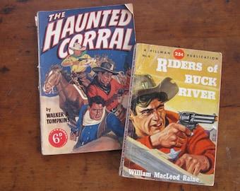 2 Vintage Cowboy Paperbacks