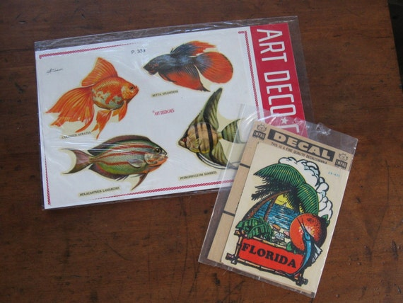 2 Decal Sets of Fish & Florida
