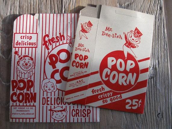 2 Vintage Popcorn Boxes