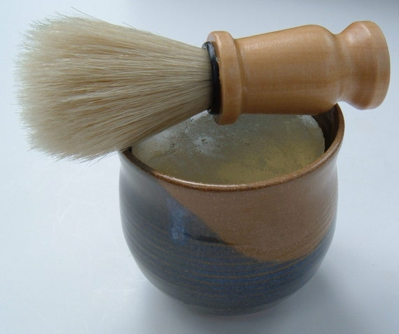 Shaving Soap Mug and Brush for Men
