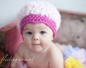 SALE Pink Frosting Cuppycake Hat 0-12 months- WAS 18
