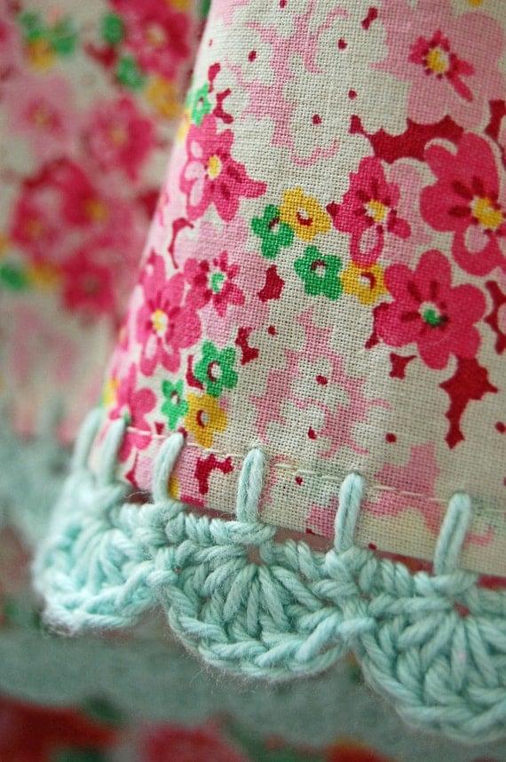 pillowcase with crochet trim  - Pretty Meadow