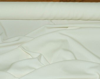 Ivory Polyester Crepe fabric 1 yd