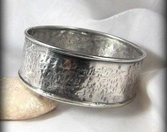 Rustic Silver bangle, silver hammered bangle bracelet, cuff bracelet, sterling bracelet