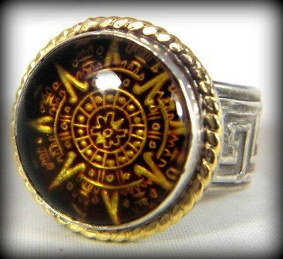 Men's  Ring, Amber gold and silver ring, Unisex silver and stone ring with yellow gold