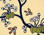 Birds and Blossoms 8x10 Art Print - No 2