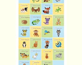 Alphabet ABC Letters Poster 24x36
