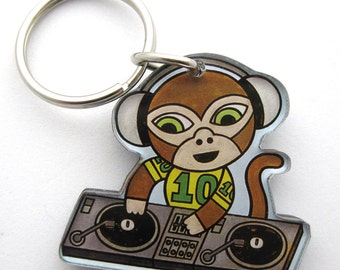 Key Chain DJ Monkey