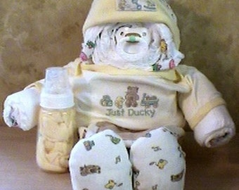 DIAPER BABY INSTRUCTIONS baby shower how to make a cake e book