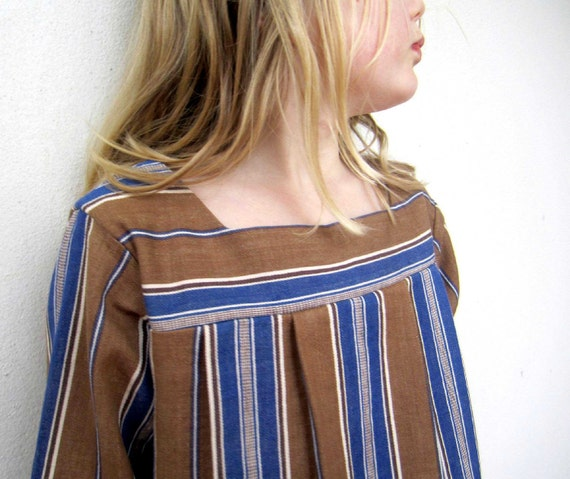 25% OFF using coupon code DASHER - French Stripe Girls Dress - Autumn-Winter-Spring Stripes, 6y, SALE