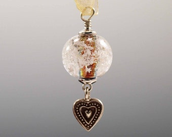 Small Ornament or Pendant -- Glass Memorial Bead