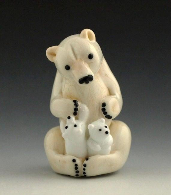 Arctic Madonna Lampwork Sculpture