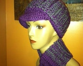 Purple & Grey Blend Newsboy Cap - Hat