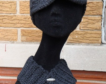 Charcoal Hat and Neckwarmer Set