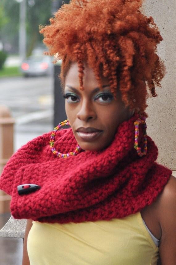 Cowl - Crochet Scarf Neckwarmer From KnottyLoop- Delta Sorority