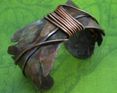 Feather Cuff Bracelet - Made to Order - copper, ethnic jewelry, tribal