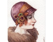 The Darling Hat -- ACEO Limited Edition Print by Amy Abshier Reyes 1/50