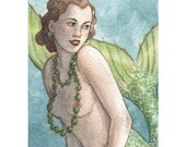 "Mermaid Siren ACEO Limited Edition Print ""The Flirtation"" by Amy Abshier Reyes 14/50"