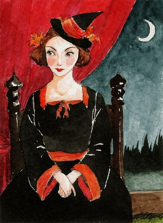 Harvest Portrait  -- ACEO Limited Edition Print by Amy Abshier Reyes 7/30