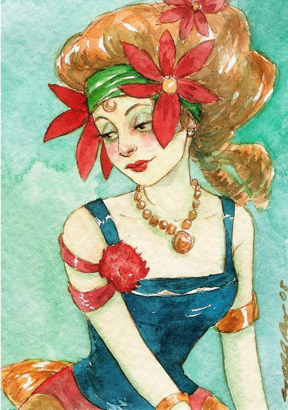 The Fortune Teller -- ACEO Limited Edition Print by Amy Abshier Reyes 9/30