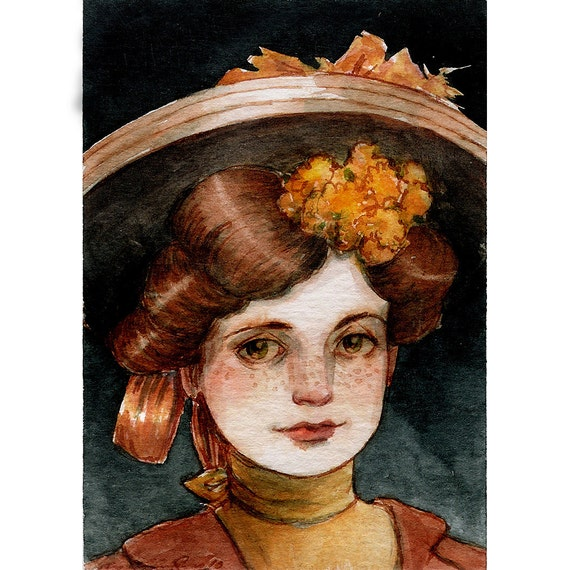 Waiting for the City Train -- ACEO Limited Edition Print by Amy Abshier Reyes 2/50