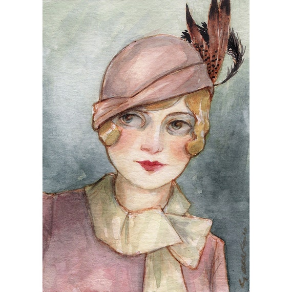 Fine Feathers -- ACEO Limited Edition Print by Amy Abshier Reyes 3/50