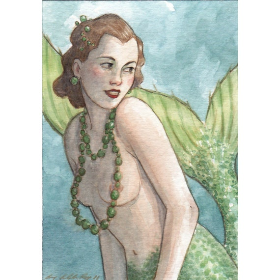 The Flirtation -- ACEO Limited Edition Print by Amy Abshier Reyes 2/50