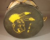 Vintage Florida State University college drum - (from 1954-57)  (FSU Seminoles)
