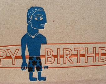 Longboard Birthday Card