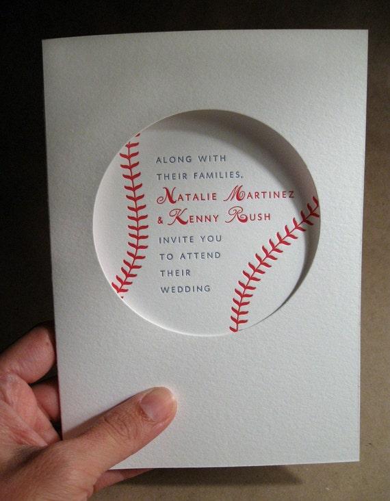 Baseball Wedding Invitation (Sample)