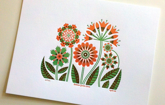 Summer Garden Print- limited edition (orange)