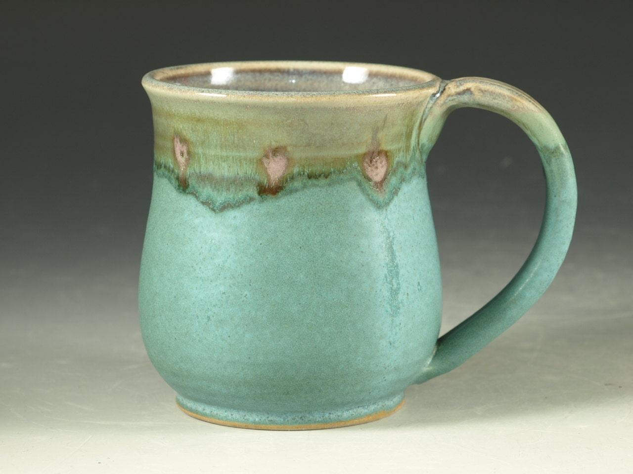 Coffee Mug 12oz Small In Turquoise Glaze