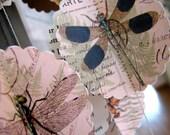 Sale: Paper garland, Paris Dragonfly, paper garland, garland, mobile, wedding garland, party