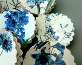 Garland, Paper garland, Wedding aisle decor, wedding table decor, wedding chirs decor, blue flowers garland, wedding decor, party decor,