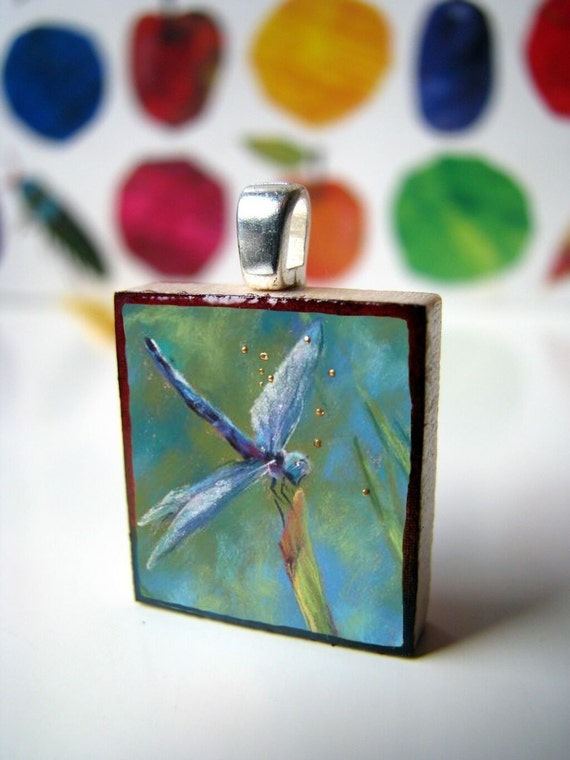 Scrabble tile pendant, Forest Lake,  - Scrabble tile necklace - perfect Christmas gift