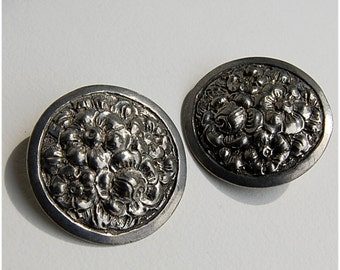 pewter earrings cast hand made signed