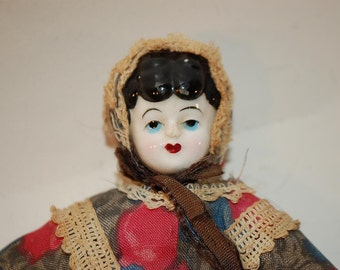 vintage china face doll 8 inches