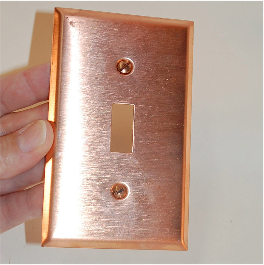Light Switch Plate Cover: Vintage Copper Light Switch Wall Plate Cover Single Toggle