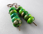 Wild Green Leopard Stack Up Earrings with Free USA Shipping