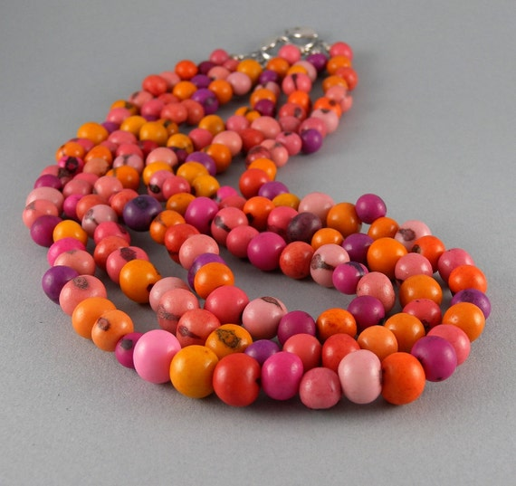 Shades of Summer Acai Seed Necklace with Free Shipping -NEW STYLE