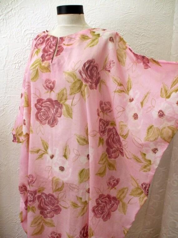 Kaftan Pink Summertime Dress Kaftan Beach Dress Pink Cotton Kaftan