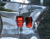 PIF - Red and Silver Earrings