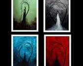 Sad Romance Fantasy Print Set - Beautiful Sorrow - Heartache and Poetry by Jaime Best