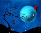 Fantasy Art Print Pop Surrealism - A Gift of Flowers by Jaime Best