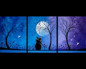 Fantasy Art Tree Painting Pop Surrealism - A Night for Dreaming - by Jaime Best