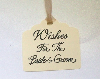 Wedding Wishing Tree Tags - For the Bride and Groom (set of 50)