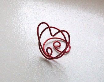 Small Placecard Holder - Red Wire Heart - Place Card Seating (set of 10)
