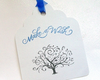 Wedding Wishing Tree Tags - Make a Wish with Tree (set of 50)
