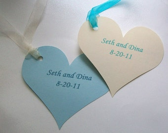 Wedding Wishing Tree Tags - Personalized Hearts (set of 50)